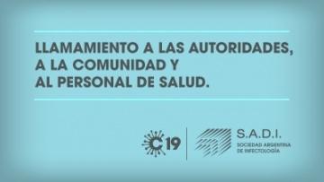 Llamamiento a las autoridades, ciudadanía y personal de salud