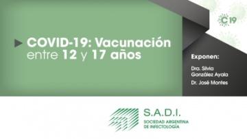 COVID -19: Vacunación entre 12 y 17 años.